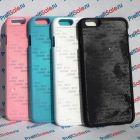 Чехол для iPhone 6 с покрытием Soft Touch (шелк) пластиковый с пластиной для сублимации: белый, черный