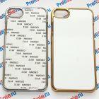 Чехол для iPhone 7/7S зеркальный с пластиной для сублимации: золотой, серебристый, цветной