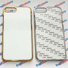 Чехол для iPhone 7 plus зеркальный с пластиной для сублимации: золотой, серебристый, цветной