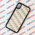Чехол для iPhone X прорезиненный с пластиной для сублимации: белый, черный, прозрачный