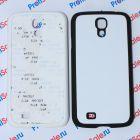 Чехол для Samsung S4 с покрытием Soft Touch (шелк) пластиковый с пластиной для сублимации: белый, черный