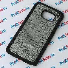 Чехол для Samsung Galaxy S7 с покрытием Soft Touch (шелк) пластиковый с пластиной для сублимации: белый, черный