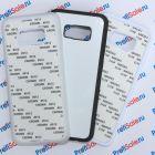 Чехол для Samsung S8 plus прорезиненный с пластиной для сублимации: белый, черный, прозрачный