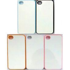 Чехол для iPhone 4/4S пластиковый с пластиной для сублимации. Цвет: белый, черный, прозрачный