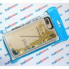 Чехол-переливашка пластиковый для iPhone 7 plus/8 plus под полиграфическую вставку, прозрачный с блестками