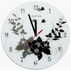 Часы настенные стеклянные глянцевые для сублимации, диаметр 30 см
