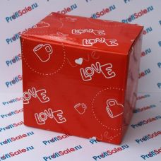 Коробка для кружек Love, подарочная, красная