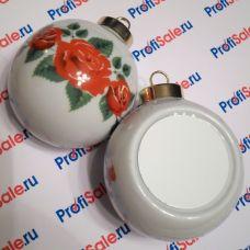 Ёлочный шар керамический с пластиной для сублимации