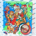 Коробка с окном новогодняя для елочных шаров, синяя