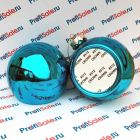 Елочный шар пластиковый с пластиной для сублимации, голубой