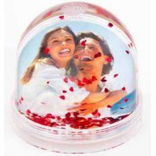 Водяной шар с хлопьями в виде сердечек для полиграфической вставки (без воды)