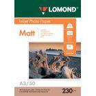 Фотобумага матовая Lоmond 0102156 (A3, 230 г/кв.м, 50 листов)