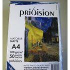 Фотобумага матовая Privision (A4, 120 г/кв.м, 50 листов)