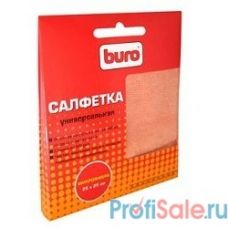 BURO BU-MF [817427] Микрофибра, 25 х 25 см, универсальная, для очистки экранов любого типа, пластиковых поверхностей