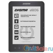 "Электронная книга Digma S683G 6"" E-ink HD Carta 1024x758 Touch Screen/4Gb/microSDHC/frontlight серый [397357]"