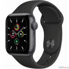 Apple Watch SE GPS, 44mm Space Gray Aluminium Black Sport Band [MYDT2RU/A] (763272)