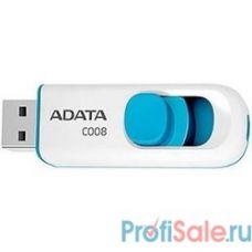A-DATA Flash Drive 16Gb С008 AC008-16G-RWE {USB2.0, белый}