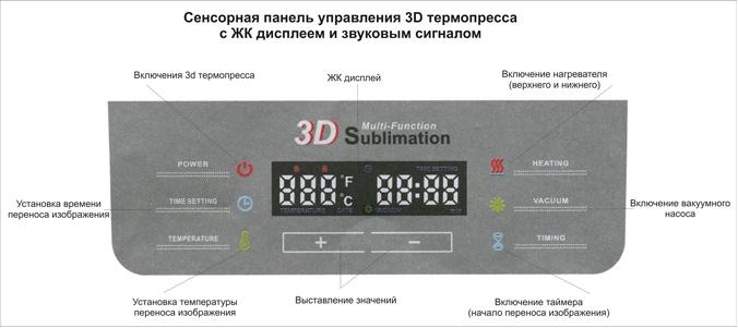 Панель управления вакуумного термопресса